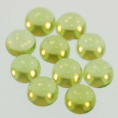 10 PIECES OF 2mm ROUND CABOCHON-CUT NATURAL AFGHAN PERIDOT GEMSTONES