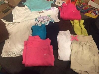 Lot of girls clothes 14 Pieces size 6 EUC Some Justice