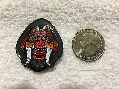 Hack-O-Lantern Horror Movie Satanic Death Mask Lapel Pin Free Ship Within USA
