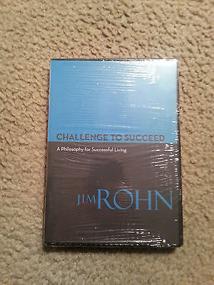 Jim Rohn CHALLENGE TO SUCCEED 4 CD Set ~New/Sealed~