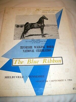 Vintage The Blue Ribbon Tennessee Walking Horse Year Book Shelbyville, TN 1966