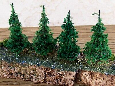 "N Scale Architrees-2-1/4""-4-Pack of-PINE/EVERGREEN TREES~Great For Scene"
