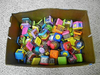 MIXED LOT of 130 Fisher Price Peek A Blocks plus a Few Other Brands - NICE!
