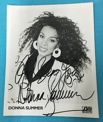 RARE Donna Summer hand signed autographed 8x10 photo picture (A9)