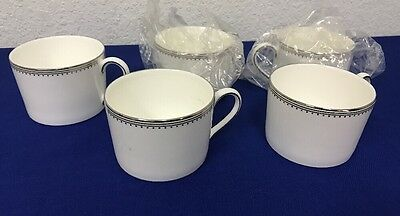 Wedgwood Coffee Vera Wang Grosgrain Tea Cups Mugs Set of 5 NEW Teacup (2)