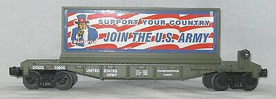 M.T.H. U.S. Army Transportation Corps Flat Car with Join The U.S. Army Billboard