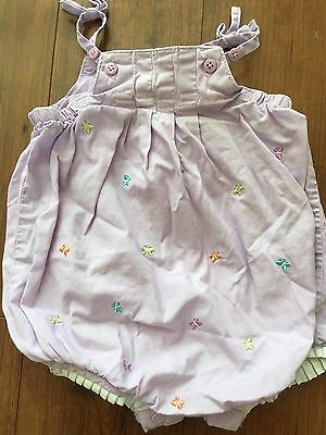 Carter's Baby Girl Romper One Piece Bodysuit 6 Months Lavender w/ Butterflies
