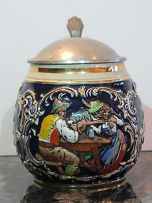 Antique Marzi & Remy Round-Bodied 1/2L German Beer Stein with Flirting Scene #30