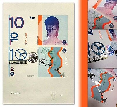 England / David Bowie / Brixton - Numbered Art Print, new design, sold for $1800