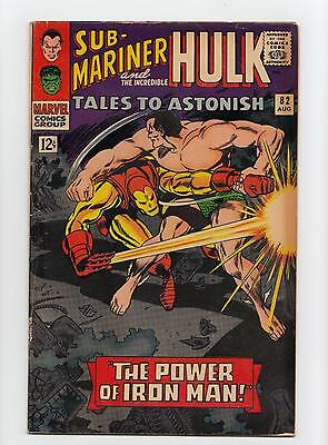 Tales to Astonish #82 Sub-Mariner vs Iron Man (Marvel 1966) FN
