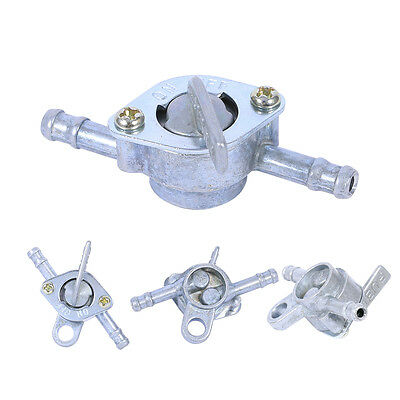 Motorcycle Bike 6mm Petrol Fuel Tap Tank Valve In-line On-Off Switch Aluminium