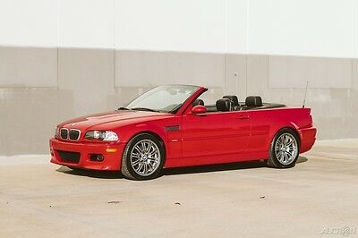 2002 BMW M3 BEAUTIFUL M3 Cabriolet Imola Red 38K Low Miles BEAUTIFUL M3 Cabriolet Convertible Super Low Miles SMG EXCEPTIONAL