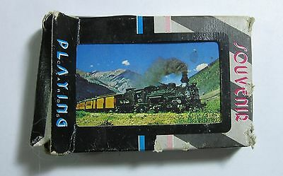 Train Souvenir Playing Cards Used Full Deck