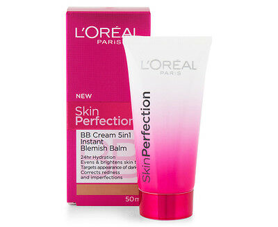 L'oreal Skin Perfection Bb Cream 5 In 1 Instant Blemish Balm Light 50Ml Loreal