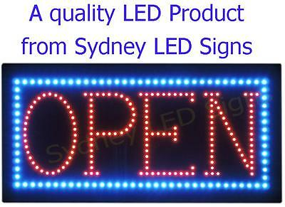 Animated LED NEON Motion Flash Open Business Sign OPEN 0010 SIZE: 60CM X 30CM