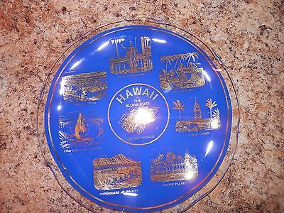 Hawaii SOUVENIR PLATE BY FAR OUT UNLIMITED WHOLESALE MADE IN ENGLAND