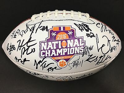 2017 Clemson Tigers Team Signed National Championship Football Auto Coa Proof **