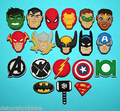 19 AVENGERS Shoe Decorations The Justice League Hulk THOR Ironman XMAS GIFT NEW