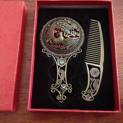 Collectable Mirror and Comb Set for Girl..12 cms high..New