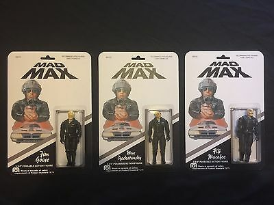 MAD MAX Action Figures Custom Carded Complete Set of 3