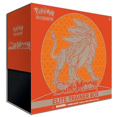 Pokemon TCG Sun & Moon Elite Trainer Box - Solgaleo Box - NEW IN STOCK