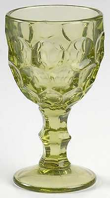 Imperial Glass Ohio PROVINCIAL GREEN Wine Glass 237664