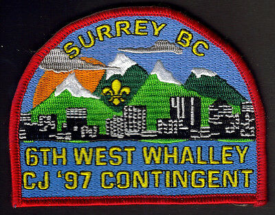 Boy Scouts Canada Canadian Jamboree 1997 Whalley Surrey B.c. Embroidered Patch