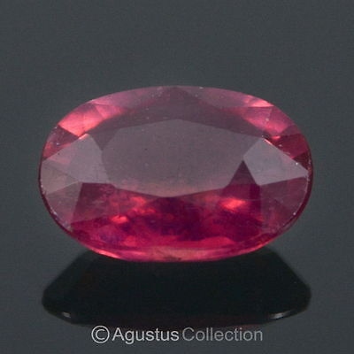0.96 cts RUBY Pinkish Red Oval Facet-cut Natural Gemstone Madagascar Africa
