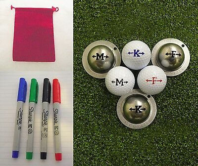1 Only  Ultra Fine Sharpie Pen & Pouches  For  Tin Cup  Golf Ball Markers