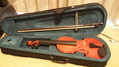 Used FULL SIZE 4/4 Student Violin wtih case, bow & Rosin (for beginners/student)