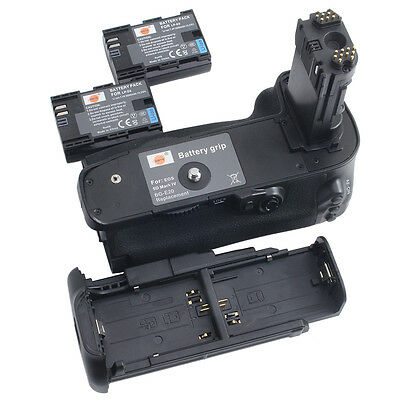 DSTE BG-E20 Vertical Battery Grip + 2x LP-E6 Battery for Canon EOS 5D Mark IV
