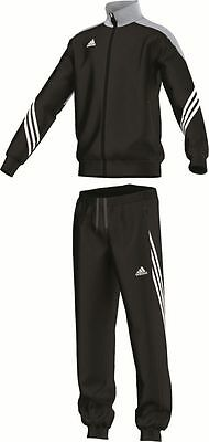 Adidas Football Youth Soccer Sereno 14 Polyester Suit Tracksuit Boys Black Grey