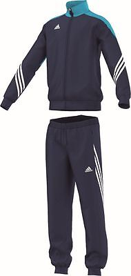Adidas Football Youth Soccer Sereno 14 Polyester Suit Tracksuit Boys Blue White