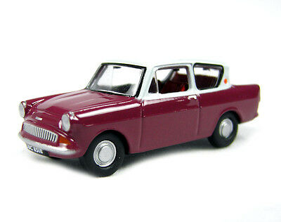Oxford Die Cast 1:76 Scale Ford Anglia Maroon/Grey (76105002) *BRAND NEW*