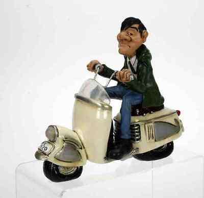 The Comical World Resin Caricature Mod-rophina Scooter  *BRAND NEW*