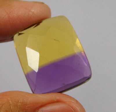 24 Cts. Treated Faceted Ametrine Cut Loose Cabochon Gemstone (NH994)