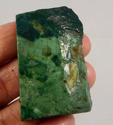 100 Cts. NATURAL MOSS AGATE SLICE ROUGH LOOSE CAB GEMSTONE (S382)