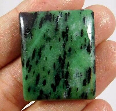65 Cts.100% NATURAL RUBY ZOISITE LOOSE CAB GEMSTONE (AQ161)