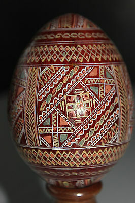 Hand Painted Wooden Collectors Egg