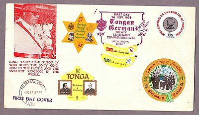 Tonga  1976  Cover with 5 different stamps.