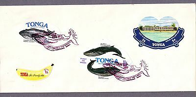 Tonga  1977  Cover with 4 different stamps.