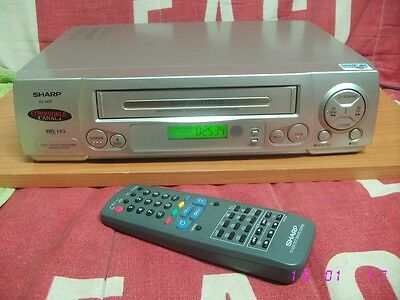 Video VHS SHARP modelo VC-M37 grabador reproductor VCR cassette recorder.