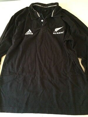 Mans Adidas All Blacks Rugby Top, Size M