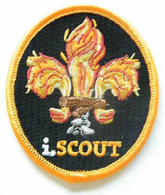i.Scout Flame Badge, Beautiful embroidered World Scout badge