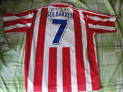 Rare AALBORG STOLBAKKEN #7 Player Issue 1997 1999 Adidas Football shirt jersey L