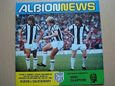 West Bromwich Albion V Galatasaray Sep 1978
