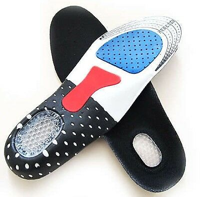 2 Pairs of Orthotic Shoe Shock Absorb Foot feet Heel Arch Support Pain insoles