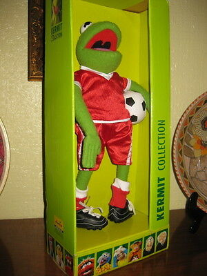 """Very Rare Igel Muppet Show Football Kermit 14"""" Only 50 Made Mint In Packaging"""