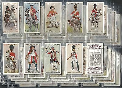 Players, Regimental Uniforms (Brown Back) Set Of 50 Issued In 1914.