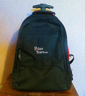 Genuine Pokerstars Backpack And Laptop Case Which Converts To Wheeled Cabin Bag